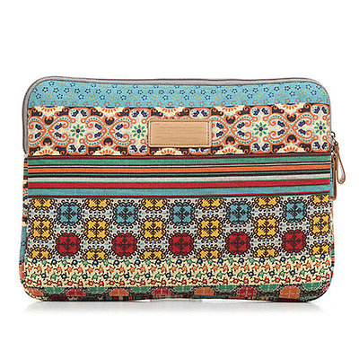 Bohemia style retro floral print laptop bag