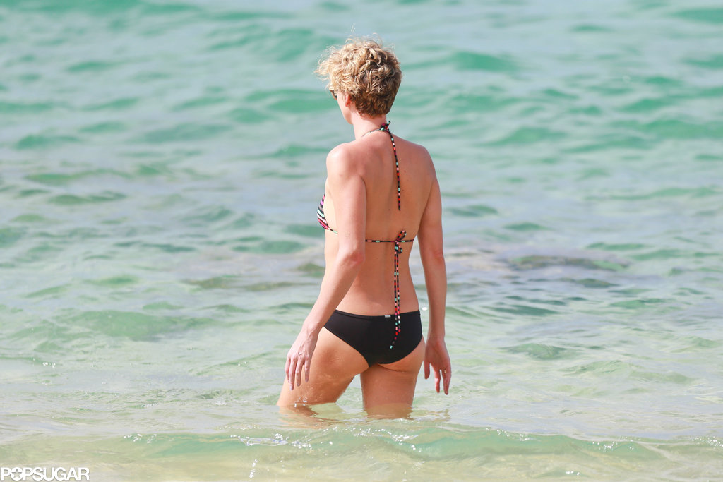 Charlize showed off her amazing bikini body in Hawaii.