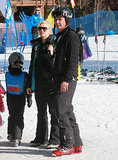 Gwen and Gavin Rossdale watched their kids on the slope.