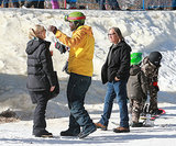 Gwen Stefani ran into Seal in Mammoth, CA.