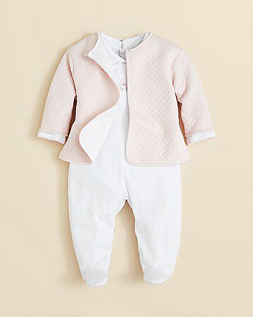 Kissy Kissy Jacquard Footie and Jacket