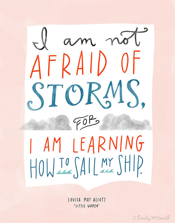 Louisa May Alcott's quote from Little Women is featured in this pretty print ($32).