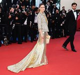 The golden dress she chose for Cannes in 2013 left no doubts: she's a fan of dramatic trains.