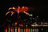Auckland, New Zealand, kicked off 2014 with a fireworks show.