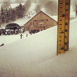 Just how many inches came down?  Source: Instagram user mountsnow