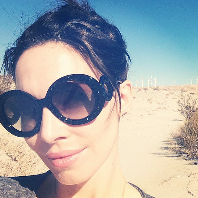 "Whitney Cummings snapped a selfie while on a hike, adding, ""New Year's resolution: stay in the sunshine. Darkness is so 2013."" Source: Instagram user whitneyacummings"