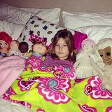 Stella McDermott had a bed full of friends one night. Source: Instagram user torianddean