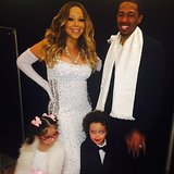 Moroccan and Monroe Cannon got dressed up with Mom and Dad for their New Year's Eve celebration. Source: Instagram user mariahcarey