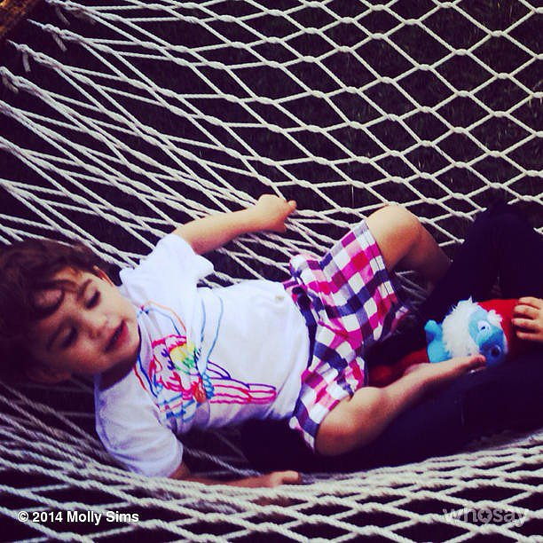 Brooks Stuber got in the vacation spirit while lounging on a hammock. Source: Instagram user mollybsims