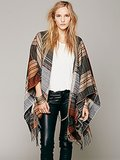 Free People Oversize Plaid Ruana Scarf