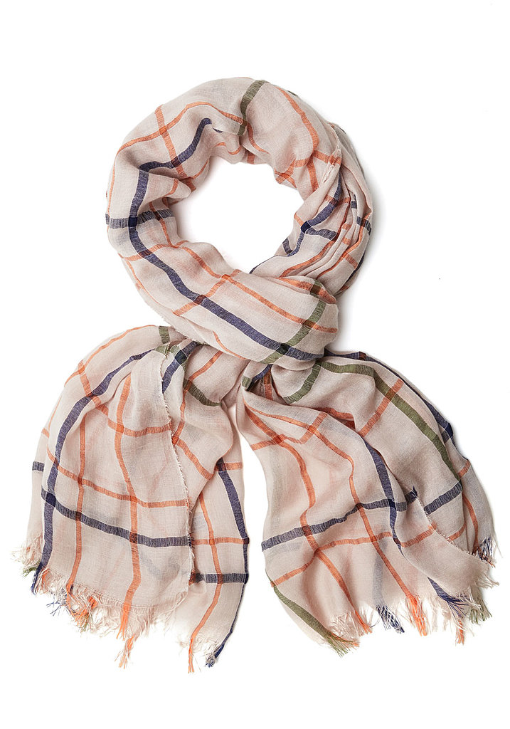 ModCloth Orange and Blue Plaid Scarf