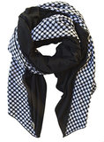 Donni Charm Black and White Houndstooth Scarf