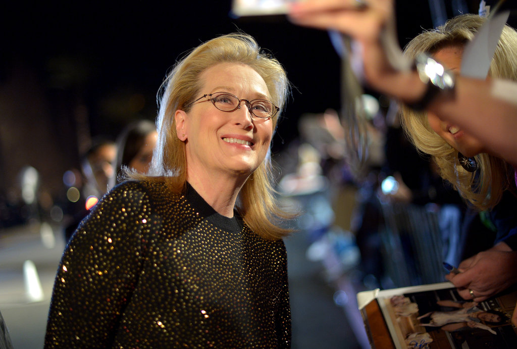 Meryl Streep took in the sights before entering the gala.