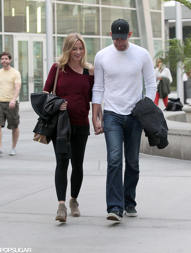 Emily and John wore casual outfits for their day out.