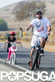 Adam Sandler and his daughter Sunny rode bikes in Malibu on Saturday.