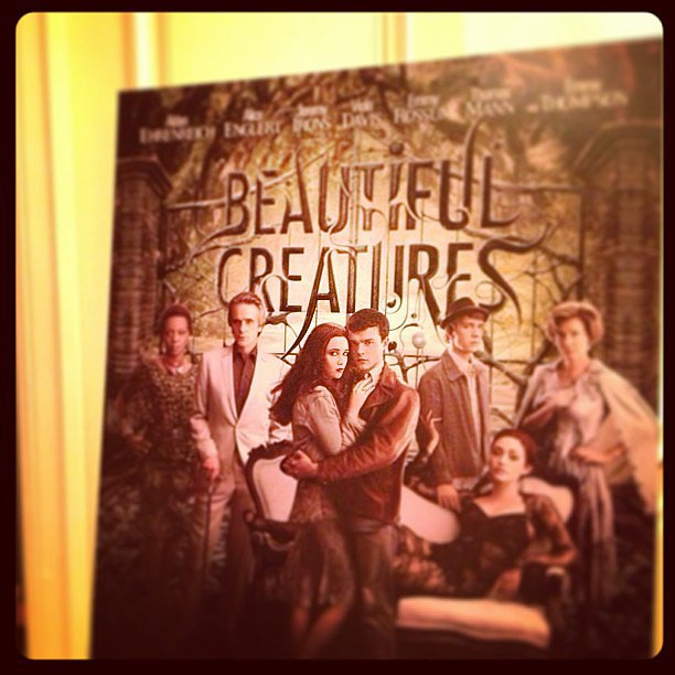 Interviewed Alden Ehrenreich and Alice Englert for Beautiful Creatures.