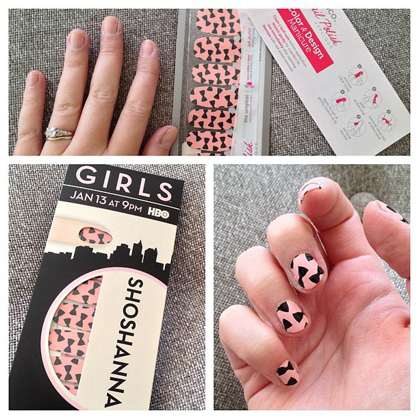 Before and after: Girls nails just in time for Valentine's Day.