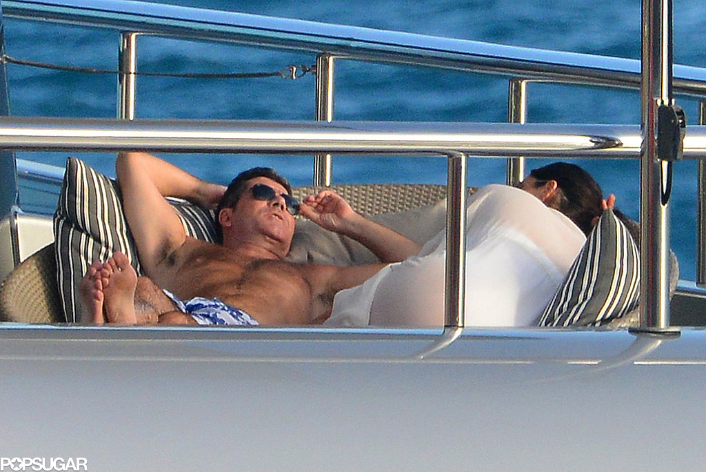 Simon and Lauren relaxed on the yacht.