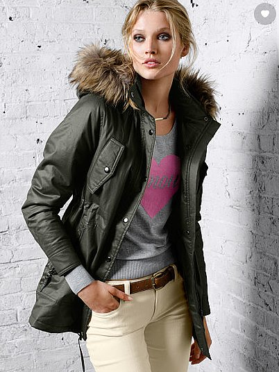 Victoria's Secret Waxed-Cotton Parka ($118, originally $158)