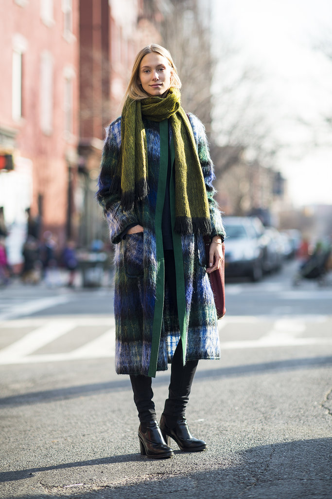 With a plaid coat, you need little else to tie together your Winter look.  Source: Le 21ème | Adam Katz Sinding