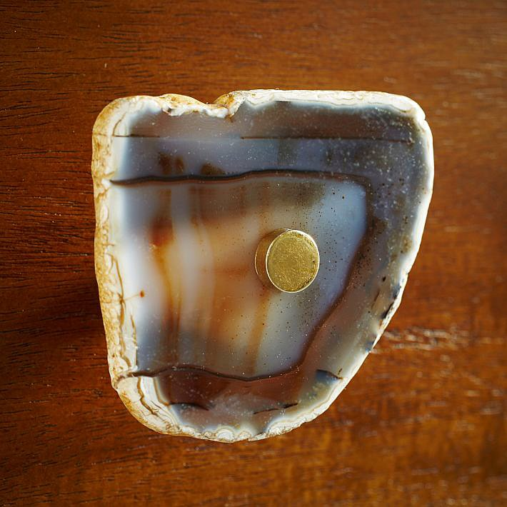 Give your furniture a rockin' makeover with these Agate Knobs ($14).