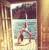 Nina Dobrev showed off her yoga skills in a bikini during a trip to a lake in Summer 2013. Source: WhoSay user ninadobrev