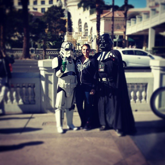 The Woman Who Ended Up Chillin' With Darth and a Stormtrooper