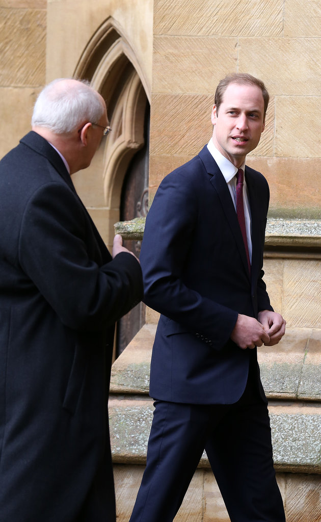 William chatted with a group of Cambridge University officials.