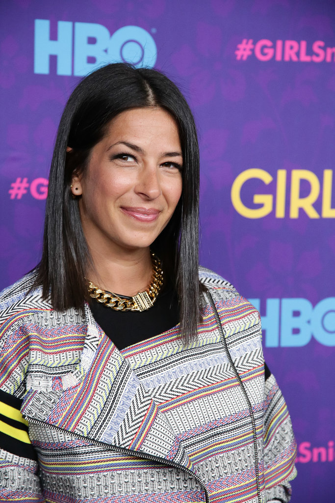 Rebecca Minkoff stuck to her signature beauty look: straight hair, subtle liner, and a swipe of pink on her lips.