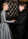 Cate Blanchett shook hands with Robert Redford.