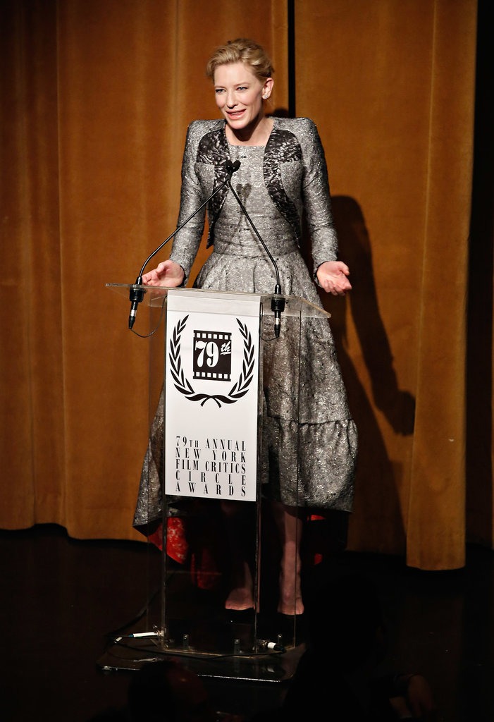 Cate accepted her award with grace.