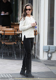 On Tuesday, Pippa Middleton grabbed lunch in London while wearing a cute white sweater.