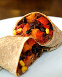 Low Calorie Vegan Sweet Potato and Black Bean Burrito