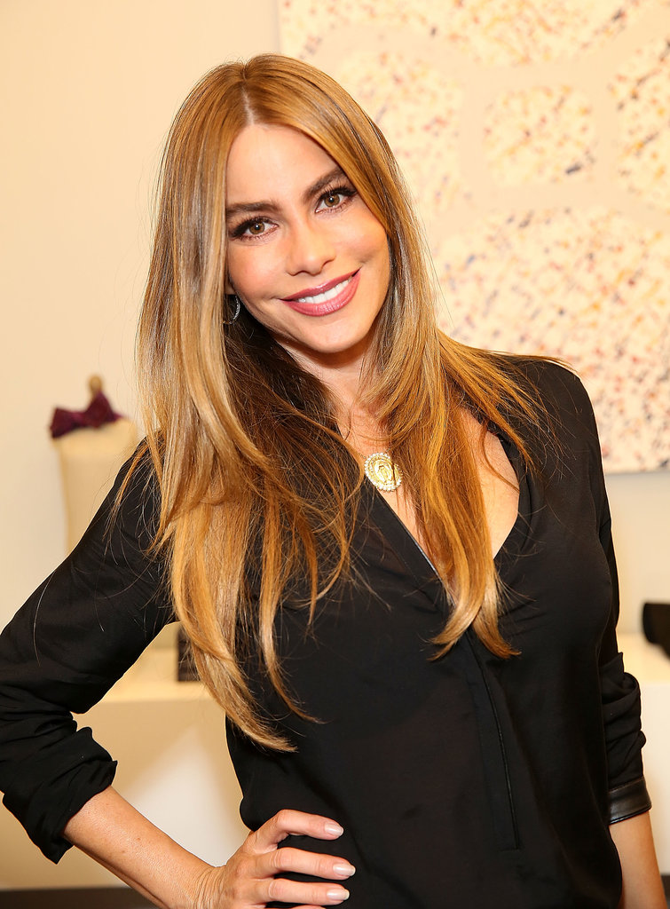 Sofia's glossy blowout at The Knot's pop-up store in Beverly Hills in December 2013 is the stuff that envy-induced dreams are made of.