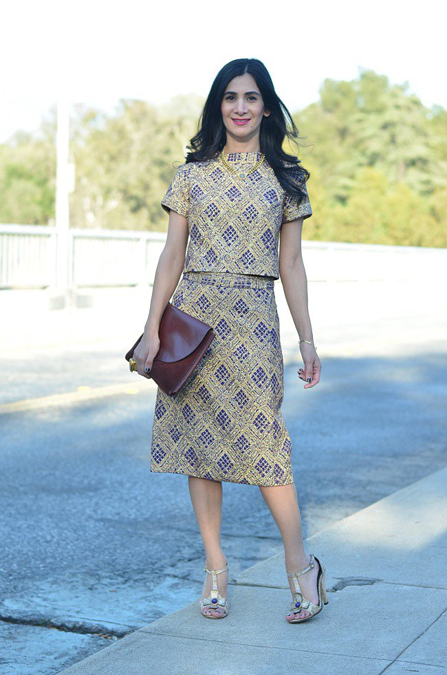 Congrats, A Vintage Splendor! We love how you swapped out a dress for a matching top and skirt!