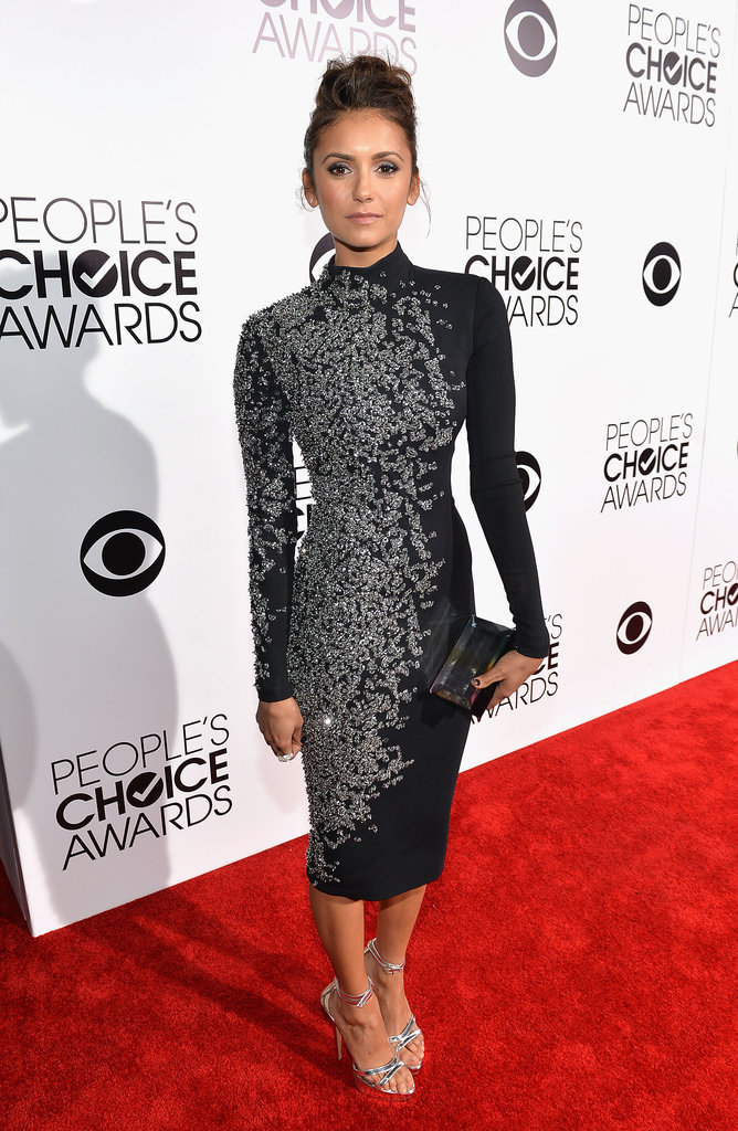Nina Dobrev looked super hot at the People's Choice Awards.