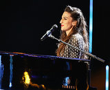 "Sara Bareilles performed ""Brave"" during the award show."