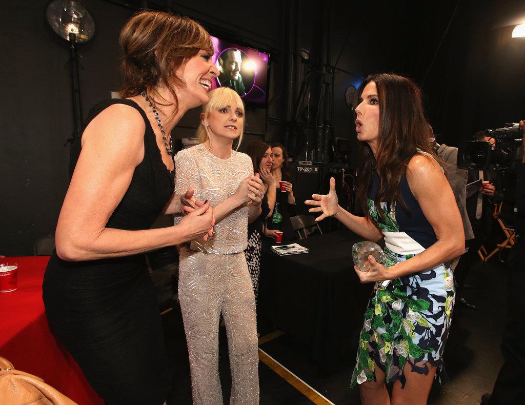 Sandra Bullock got animated with Allison Janney and Anna Faris.