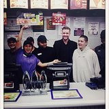 Justin Timberlake celebrated his PCAs win at Taco Bell. Source: Instagram user justintimberlake