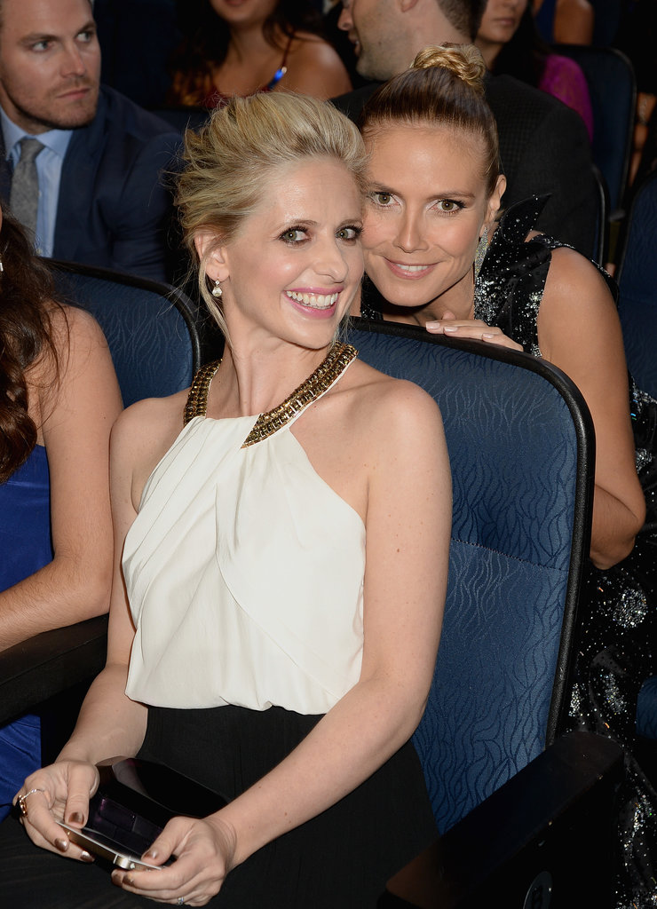 Sarah Michelle Gellar got up close and personal with Heidi Klum.
