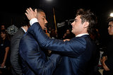 "Zac Efron ""helped"" Michael B. Jordan with his hair."