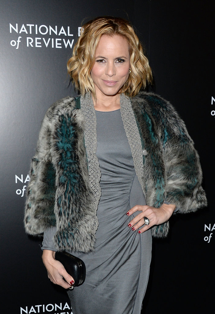 Prisoners star Maria Bello rocked a fur coat.