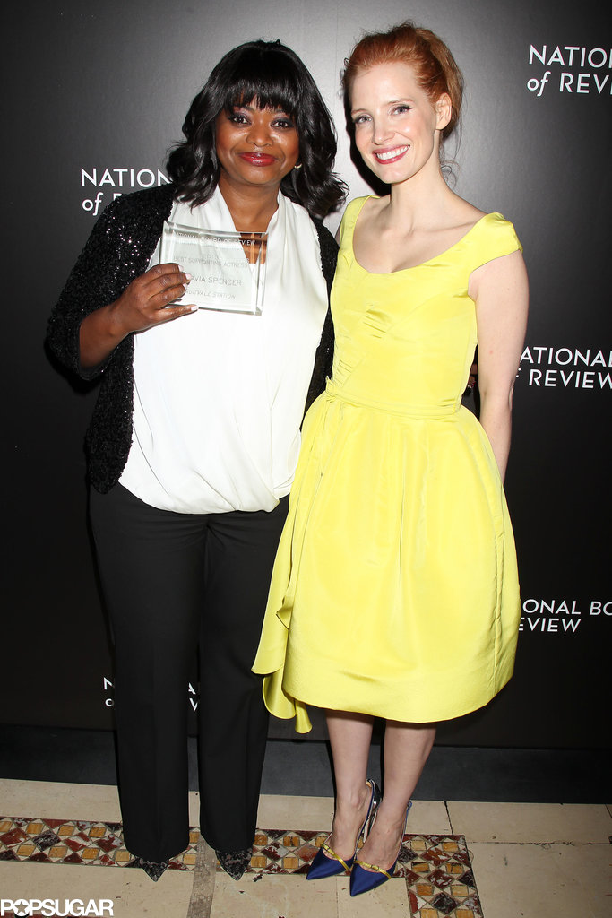 Octavia and Jessica posed together, staging The Help's latest reunion.