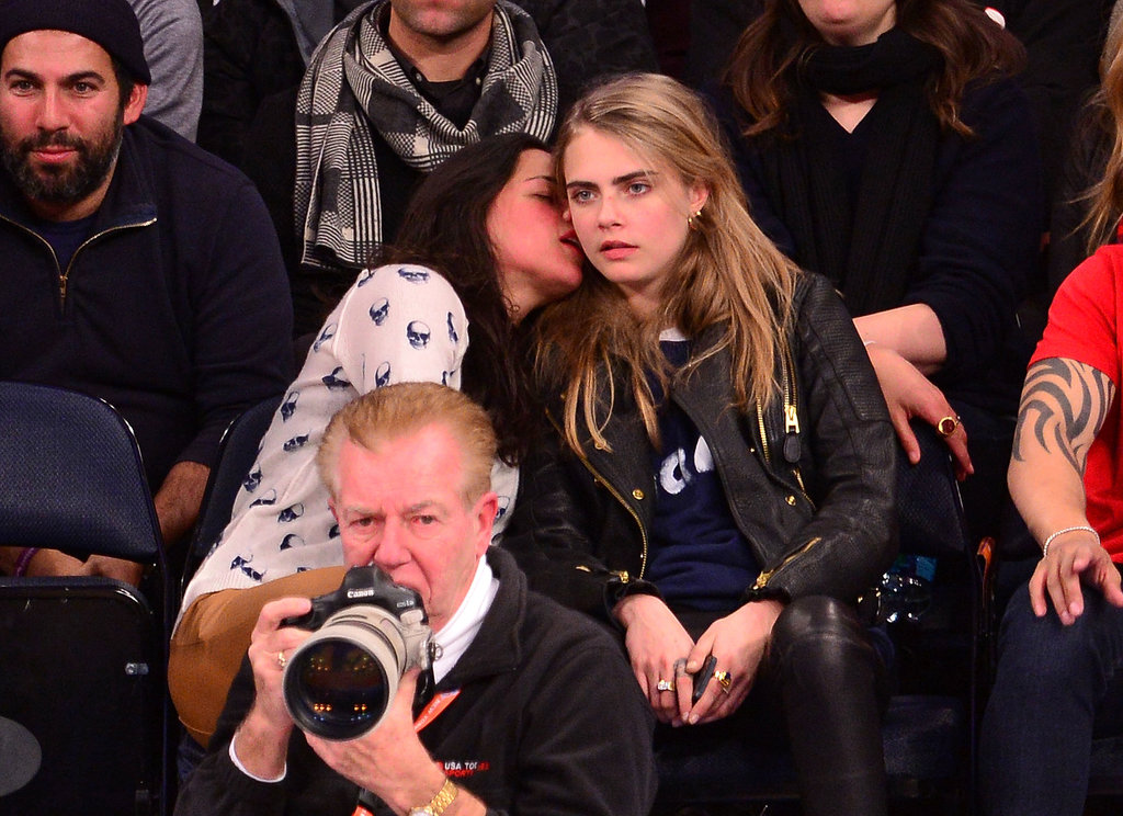 Michelle Rodriguez brought her friend Cara Delevingne to a Knicks game in NYC, and things got real fun, real fast.