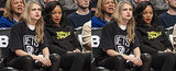 The Stars Score Serious Courtside Fashion Points