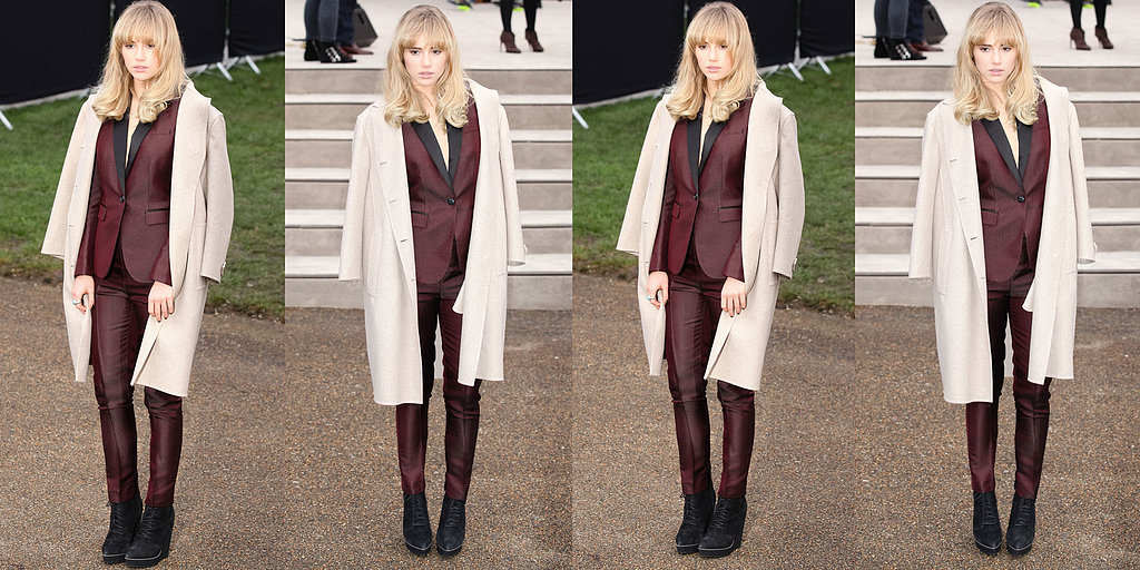 Suki Waterhouse Is Suitably Suited For Burberry Prorsum's Menswear Show