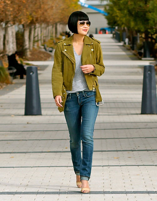 Congrats, TeaPea19! We're green with envy over your moto jacket.