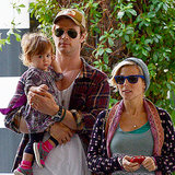 Chris Hemsworth and Family Pictures at Lunch