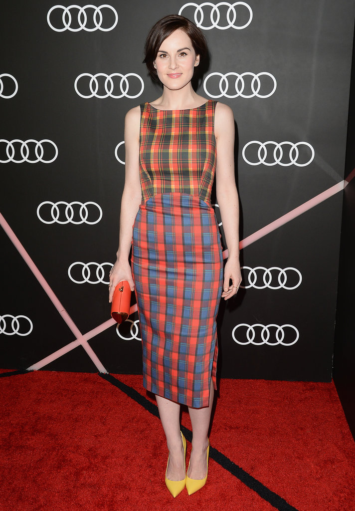 Downton Abbey's Michelle Dockery was colorful.