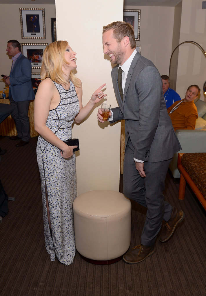 Kristen Bell shared a laugh with her Veronica Mars costar Ryan Hansen at the 2014 Variety Breakthrough of the Year Awards on Thursday in LA.